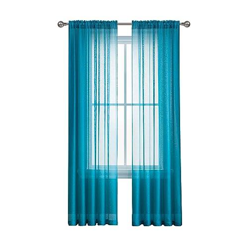 Sheer Teal Curtains: Amazon.com
