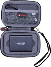 XANAD Hard Case for Samsung T3 T5 Portable 250GB 500GB 1TB 2TB SSD USB 3.1 External Solid State Drives - Storage Travel Carrying Protective Bag (Grey)