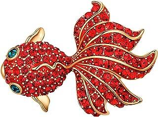 Brooch AccesoriesGolffish Broche Rojo Tendencia De La Personalidad Simple Y Versátil Pin De Abrigo De Gama Alta