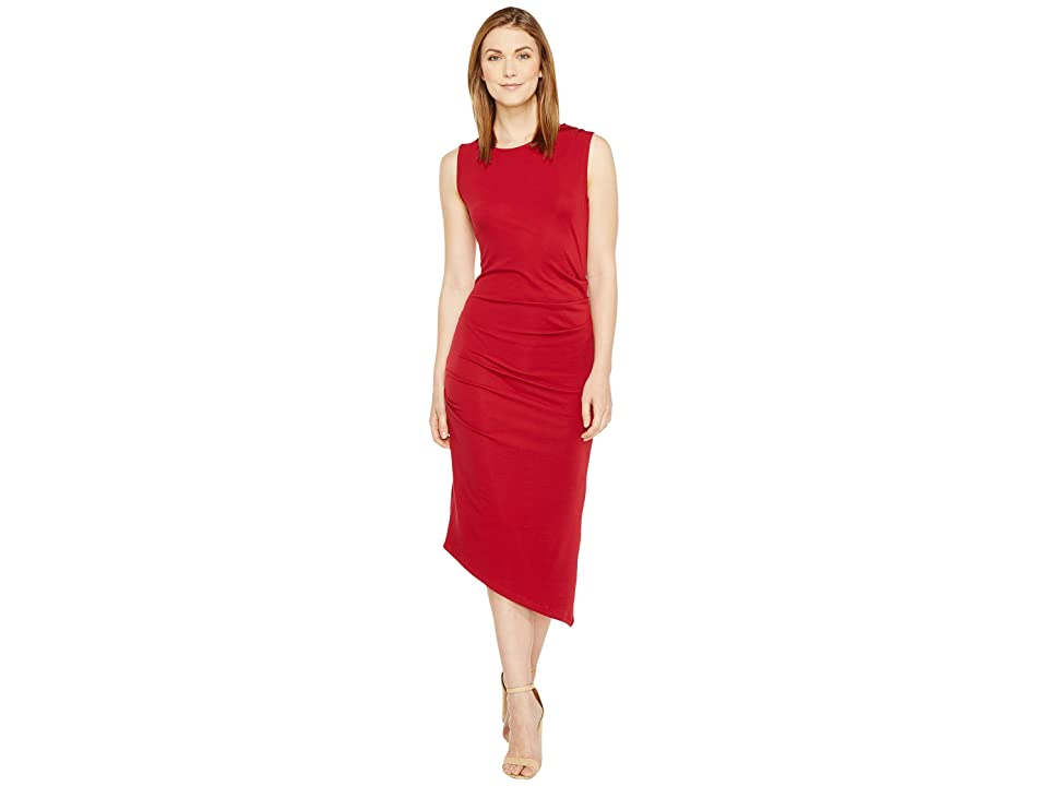 Culture Phit Kaprice Sleeveless Side Ruched Dress (Burgundy) Women