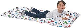 بساط نوم سهل الطي للاطفال، مبطن وبتصميم ميني ماوس من ديزني، مع غطاء وسادة مرفق - باللونين الزهري والازرق المائي