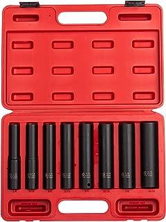 Sunex 2848, 1/2 Inch Drive Impact Socket Set, Extra Long Deep, 8-Piece, SAE, 1/2