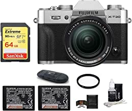 $1329 Get FUJIFILM X-T30 Mirrorless Digital Camera (with XF 18-55mm Lens Spare Battery Bundle, Silver)
