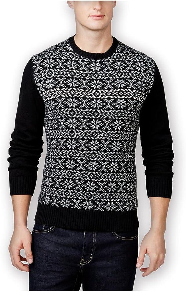 Weatherproof Mens Vintage Snowflake Shawl Sweater