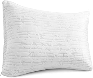 Clara Clark Bamboo Shredded Memory Foam Queen/Standard Size Pillow with Removable Washable Pillowcover
