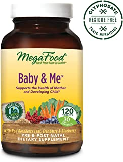 MegaFood, Baby & Me, Prenatal and Postnatal Multivitamin, Dietary Supplement with Folate, Vitamin D and Vitamin B6, Gluten-Free, Vegetarian, 120 Tablets (30 Servings) (FFP)