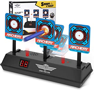 MumooBear Electronic Digital Target for Nerf Guns, Auto-Reset Intelligent Light Sound Effect Scoring Target for Nerf N-Str...