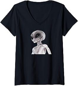 Alien V-Neck T-Shirt