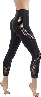 CodeFit Yoga Power Flex Dry-Fit Latest Fade Dye Active Capri with Mesh Compression Pants Workout Leggings