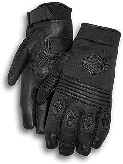 Harley-Davidson Men's Bar & Shield Vented Full-Finger Gloves 98211-13VM Black Size 2XL