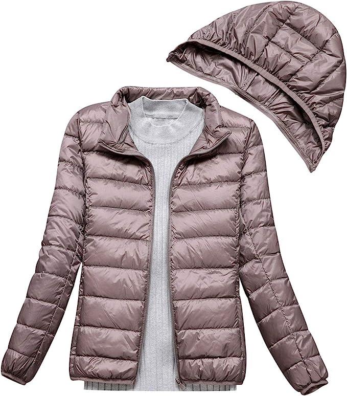 piumino leggero donna con cappuccio piumini leggeri giacca piumino leggeri  donna giacconi invernali cappotto piumino trapuntato ultraleggero pesante  giubbotti giubbini giacca primaverile invernale : amazon.it: moda  amazon.it