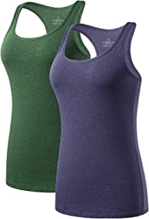 AMVELOP Yoga Racerback Tank Tops for Women Running Workout Tanks Activewear