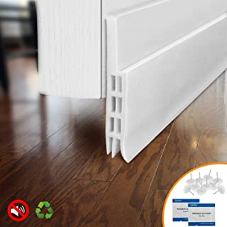BAINING Door Draft Stopper Door Sweep for Exterior/Interior Doors, Weatherproofing Door Seal Strip Under Door Draft Blocker Seal, Soundproof Door Bottom Weather Stripping, 2