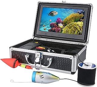 AFSDF Pescado Finder HD 9 Pulgadas Monitor De Color 20M 1000TVL Kit De Cámara De Video De Pesca 12 PCS LED Luces