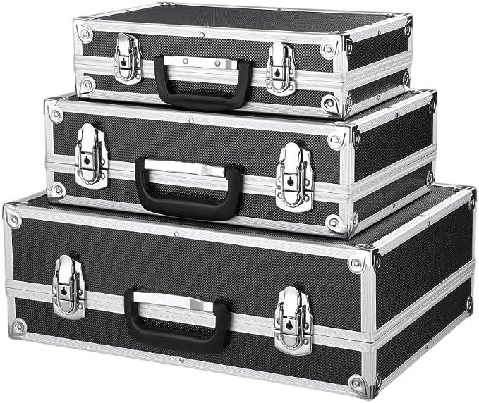 307 opinioni per iKayaa- Cassette degli attrezzi con telaio in alluminio e ABS, set da 3 pezzi