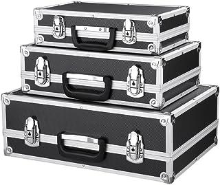 comprar comparacion IKAYAA - Juego de 3Maletas de almacenaje de Herramientas con Marco de Aluminio y plástico ABS