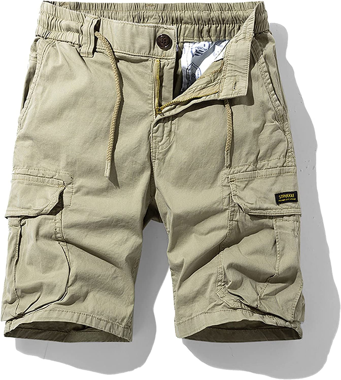Zhang Q Spring Men Cotton Cargo Shorts Clothing Summer Casual Breeches Bermuda Fashion Beach Pants Los Cortos Short-Khkai2-30