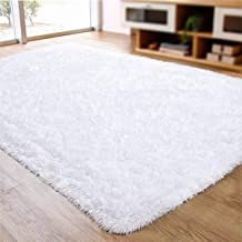 ACTCUT Soft Indoor Modern Shag Area Silky Smooth Rugs Living Room Carpet Bedroom Rug for..