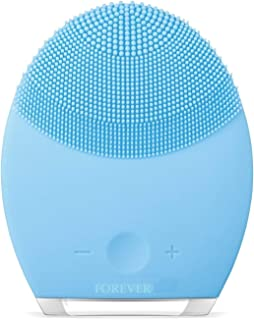 FOREO LUNA mini 2 Facial Cleansing Brush, Gentle Exfoliation and Sonic Cleansing for All Skin Types Blue