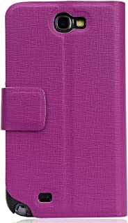 Kroo Slim Folio Case for Samsung Galaxy Note 2 - 1 Pack - Frustration-Free Packaging - Magenta
