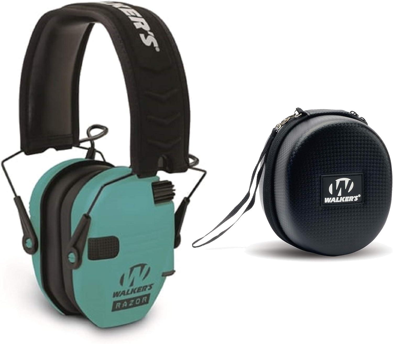Beauty products Max 88% OFF Walker's Razor Slim Electronic Shooting wi Teal Range Earmuffs