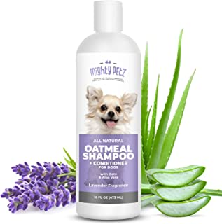 2-in-1 Oatmeal Dog Shampoo and Conditioner - All Natural Relief for Itchy, Dry, Sensitive Skin with Soothing Aloe Vera + B...