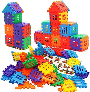 DEJUN Interlock Blocks Toys, Kids Building Blocks Set, Family Educational Toys, Construction Play Board Building Blocks, R...