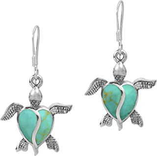Bronze and Lampwork Glass Heart Earrings Gift for Mom. Delicate Bohemian Jewelry Sparkly Green Heart Charm Everyday Dangle Earrings