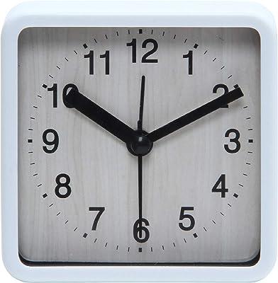 不二貿易(Fujiboeki) 置き時計 ホワイト 8.3×8.3cm ウィル スクエア 99072