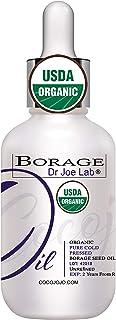 Organic Borage Seed Oil | USDA Certified Organic Borage Oil, 100% Pure, Unrefined, Natural, High GLA, Non-GMO Carrier - 1 ...