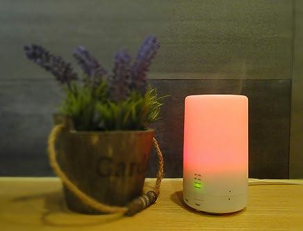 Leoie Humidificador de Aire USB de Carga LED Difusor de Aromaterapia de Aceite Esencial de Luz