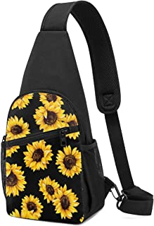 NEPower Laptop Tote Bag Watercolor American Flag Sunflower Portable Notebook Messenger Bag with Strap Notebook