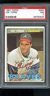 1967 Topps #350 Joe Torre Atlanta Braves NM 7 Graded Baseball Card - PSA/DNA Certified - Slabbed Baseball Cards