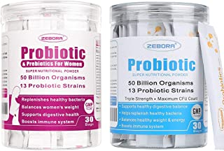 Probiotics for Women, Men and Kids, Prebiotics and Probiotics Powder for Digestive and Immune Health – Support Healthy-Res...