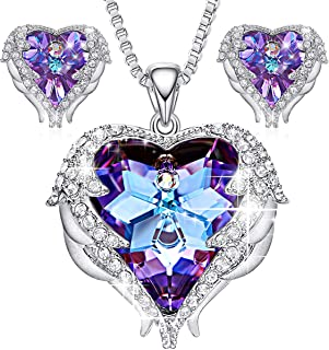 3cc9d126993 CDE Jewelry Set for Women Angel Wing Swarovski Crystal.