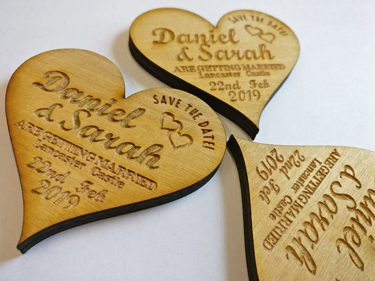 Fancy Pants Store Personalised Save the Date Heart (x100)