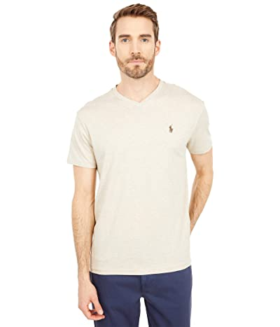 Polo Ralph Lauren Classic Fit V-Neck Tee (Expedition Dune Heather) Men