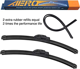 Online Automotive FWBLSRX330 3001 Pair of Front Aero//Flat Windscreen Wiper Blades