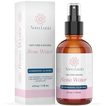 Rose Water Spray for Face Toner Hair Spray Skin Body Dark Spot Corrector Eye Makeup Remover Alcohol Free Toner Acne Scar Removal 100% Pure Moroccan Hydrating Face Mist Dry Oily Combination Skin 4 oz