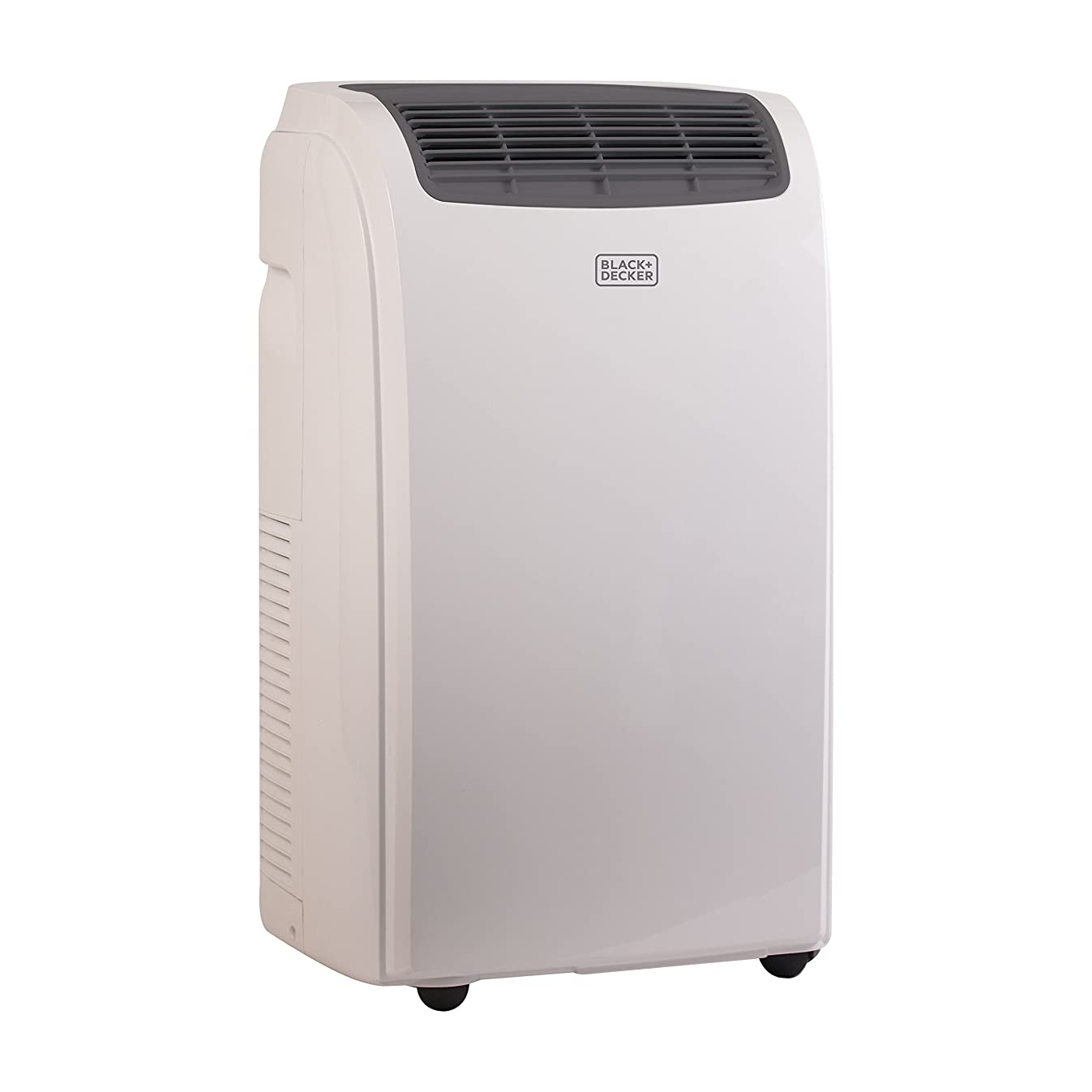 BLACK + DECKER 10000 BTU Portable Air Conditioner Unit, Remote, LED Display, Window Vent Kit, 4 Caster Wheels, White