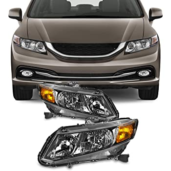 MPH 12-15 Honda Civic BK OEM Driver /& Passenger Replacement Headlights Lamps Assembly