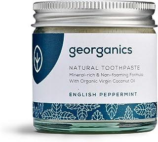 Georganics - Organic Mineral-Rich Teeth Whitening Toothpaste - Non-foaming Formula with Organic Virgin Coconut Oil - Vegan...