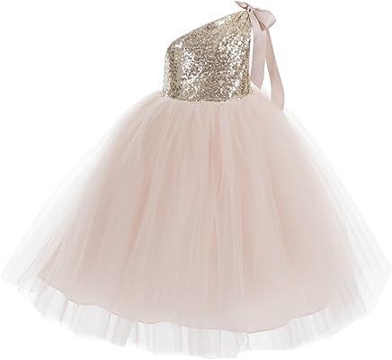 036feb65cbb0 ekidsbridal One-Shoulder Sequin Tutu Flower Girl Dress Wedding Pageant  Dresses Ball Gown Tutu Dresses
