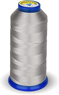 High Strength Polyester Thread Nylon Sewing Thread 1800 Yard Size T70#69 210D/3 for Weaves, Upholstery, Jeans and Weaving Hair, Drapery, Beading, Purses, Leather (Silver)