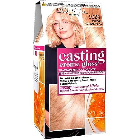 LOréal Paris Casting Creme Gloss, tratamiento colorante para el cabello, sin amoniaco para una fragancia agradable. Biondo Chiaro Perla 1021