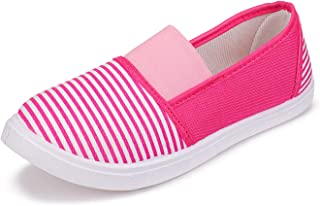 2ROW Women's Striped Pink Loafers