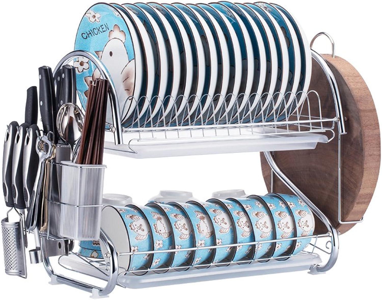 HTTDIAN Kitchen Shelf Rack Rack Dish Storage Rack Drain Dish Rack Knife Holder Storage