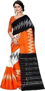 Jaanvi fashion Women's Bhagalpuri Silk Ikkat Patola Print SareeWith Unstitched Blouse
