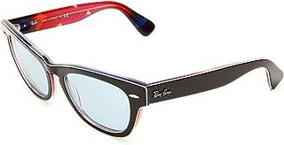 RB4169 Laramie Square Sunglasses, Top Black On Blue/Sky Blue, 53 mm