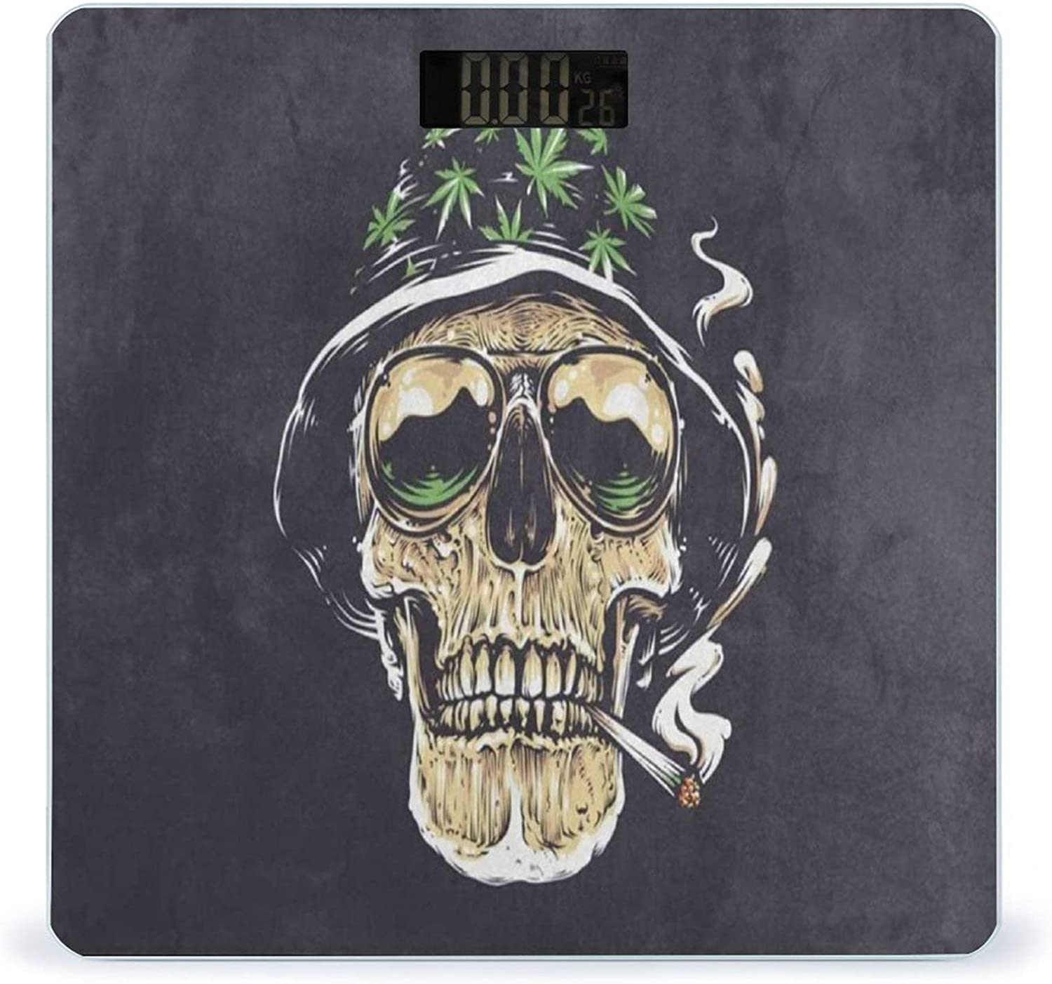 Max 76% OFF Weight Scale Cool Skull with Marijuana Limited time sale Scales Digital for B Leaf